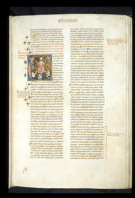 Adventus domini secundus (Second coming of Christ) from BL Royal 6 E VI, f. 57