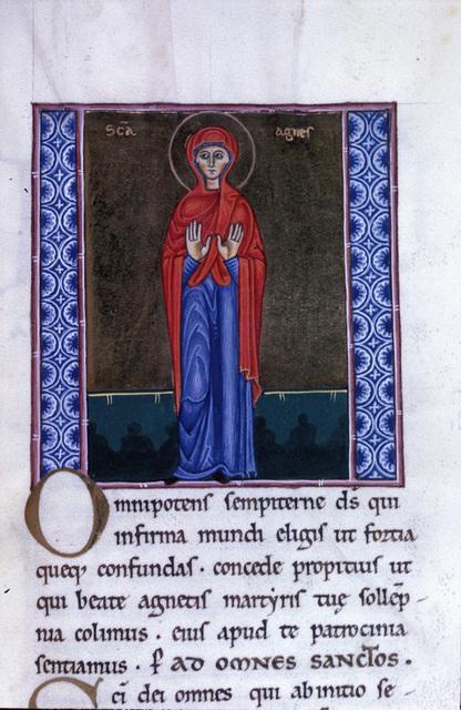 Agnes from BL Eg 1139, f. 211