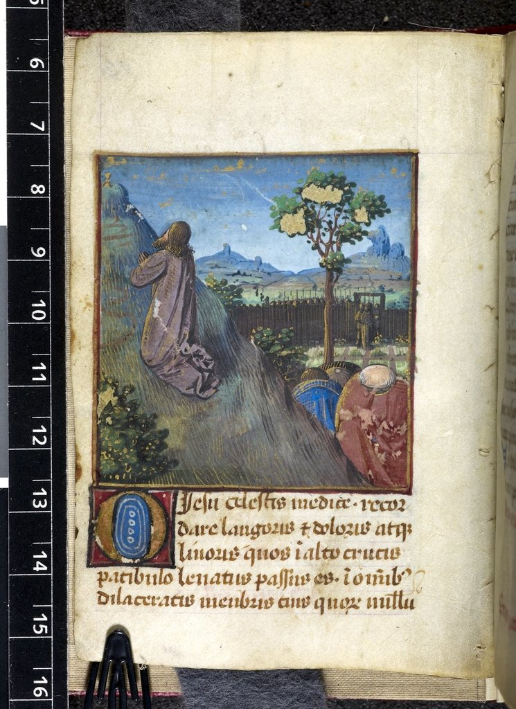 Agony in the Garden from BL Harley 5319, f. 113v