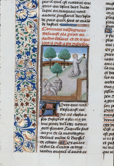 Agony in the Garden from BL Royal 15 D I, f. 340v