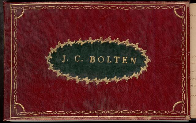 Album amicorum van Jacoba Cornelia Bolten (1787-1859)