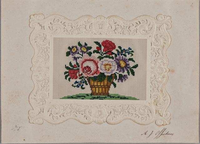 Albuminscriptie / van Adriana Josephine Offerhaus (1830-1887), voor Samuel Johannes van den Bergh (1814-1868), dichter en apotheker