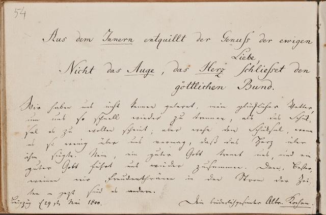 Albuminscriptie / van Albrecht Kochen, voor Samuel Schön