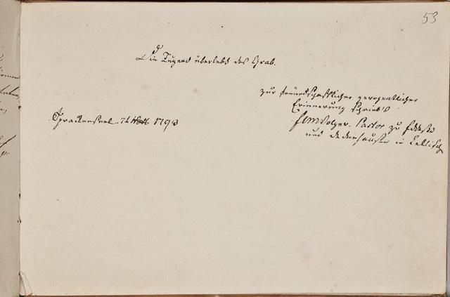Albuminscriptie / van F.L.M. Volger, predikant, voor Samuel Schön