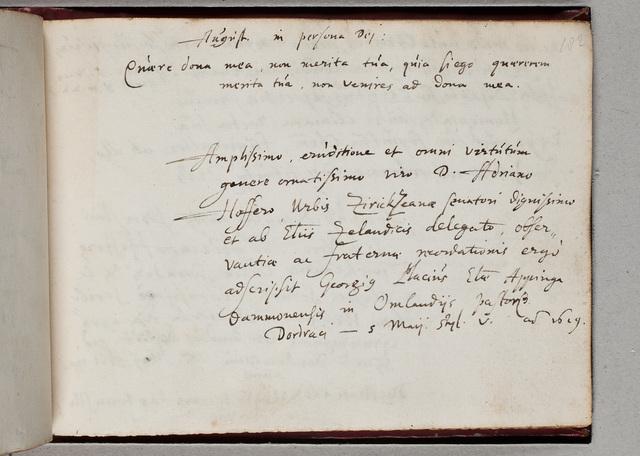 Albuminscriptie van / Georgius Placius (1584-1641), predikant, voor Adrianus Hofferus (1589-1644)