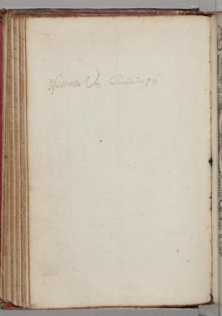 Albuminscriptie / van Isabella van Cruyningen, voor Leo of Johan Roelofs