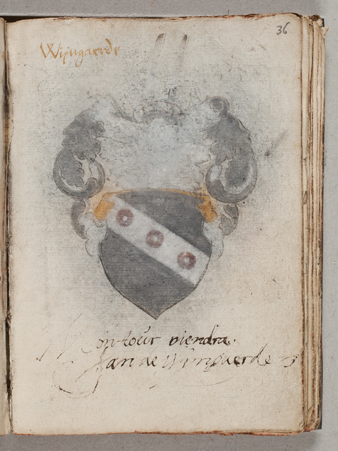 Albuminscriptie / van Jan de Wijngaerde, van voor Gerard van Hacfort