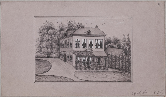 Albuminscriptie / van N.N. ('E.F.') voor Cornelia Johanna Sara van Limburg Stirum (1827-)