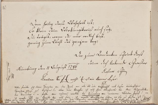 Albuminscriptie / van Rosina Schön, voor haar broer Samuel Schön