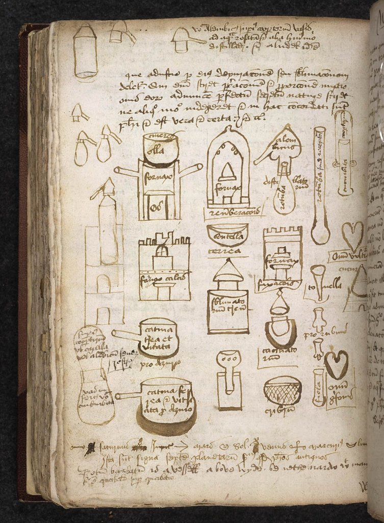 Alchemical apparatus from BL Sloane 1091, f. 161v