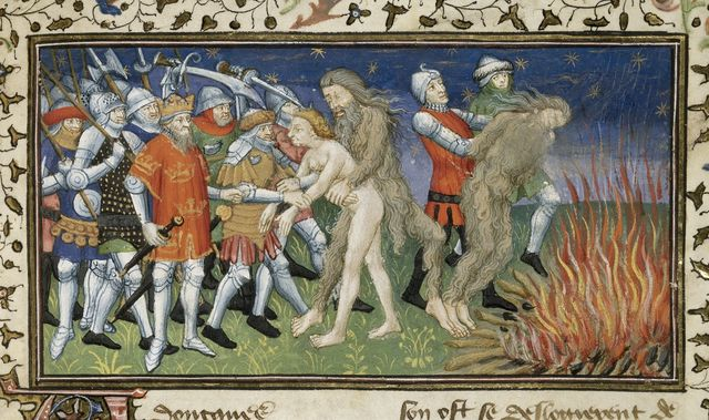 Alexander and the wild man from BL Royal 20 B XX, f. 64