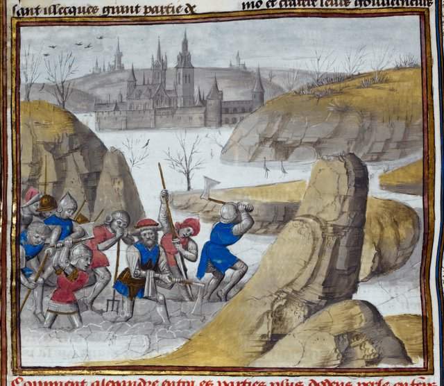 Alexander from BL Royal 15 D IV, f. 101v