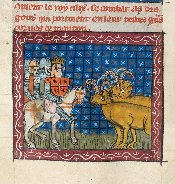 Alexander from BL Royal 19 D I, f. 38