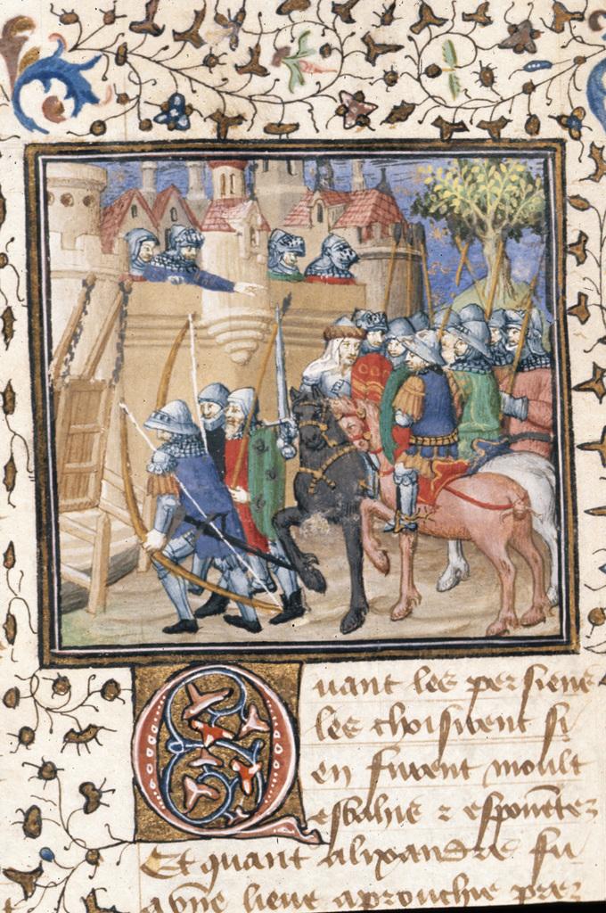 Alexander's army from BL Royal 20 B XX, f. 36v