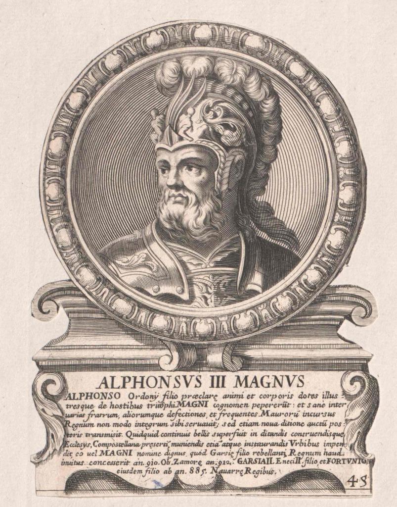 Alfons III., der Große, König von Asturien und León