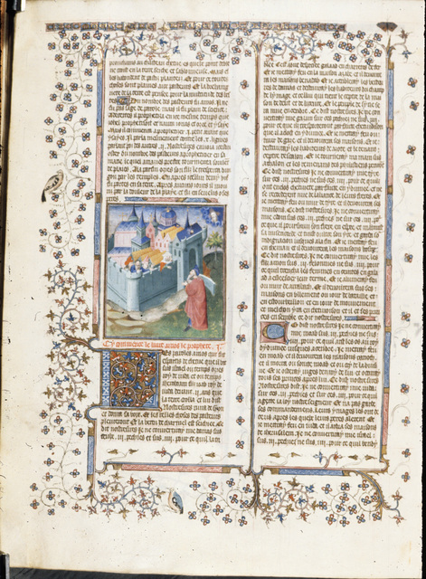 Amos and Damascus from BL Royal 15 D III, f. 395v