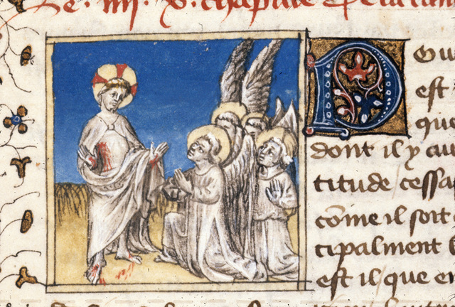 Angels from BL Royal 20 B IV, f. 154