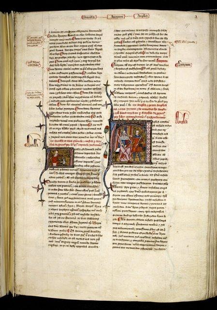 Anglia (England) from BL Royal 6 E VI, f. 107