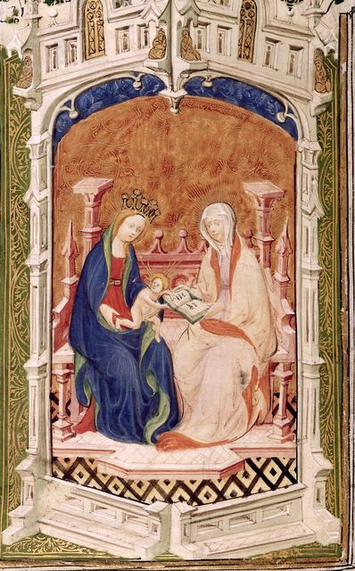Anne and the Virgin and Child from BL Royal 2 A XVIII, f. 13v