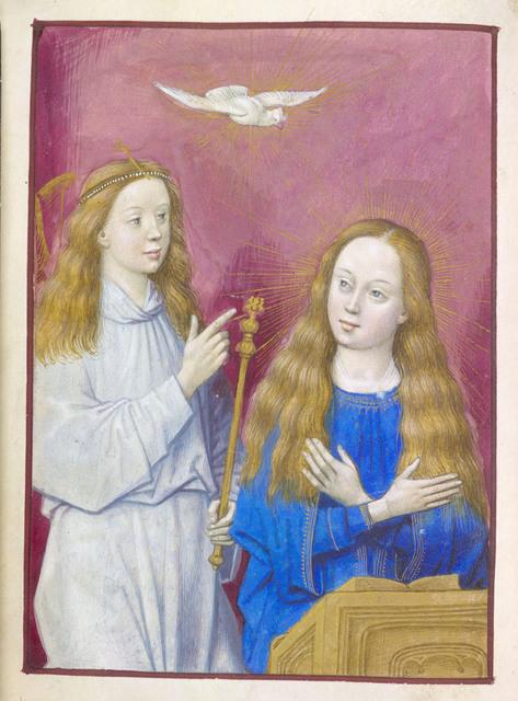 Annunciation from BL Eg 1149, f. 41v