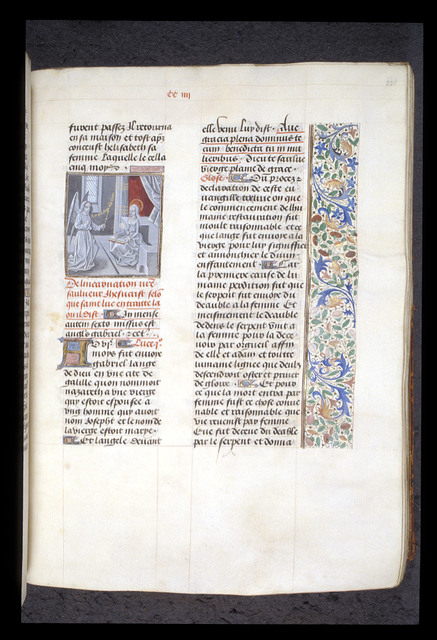 Annunciation from BL Royal 15 D I, f. 221