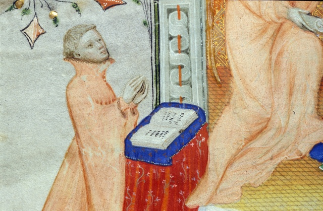 Annunciation from BL Royal 2 A XVIII, f. 23v