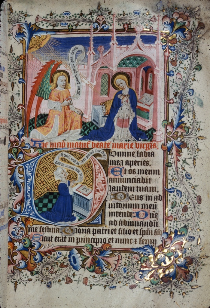 Annunciation from BL Royal 2 A XVIII, f. 34