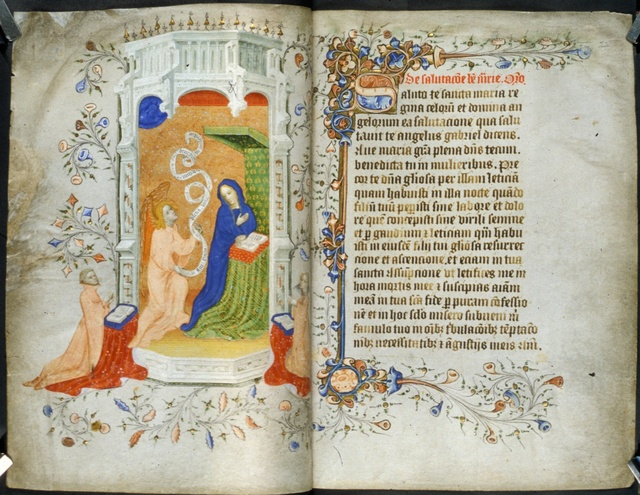 Annunciation from BL Royal 2 A XVIII, ff. 23v-24