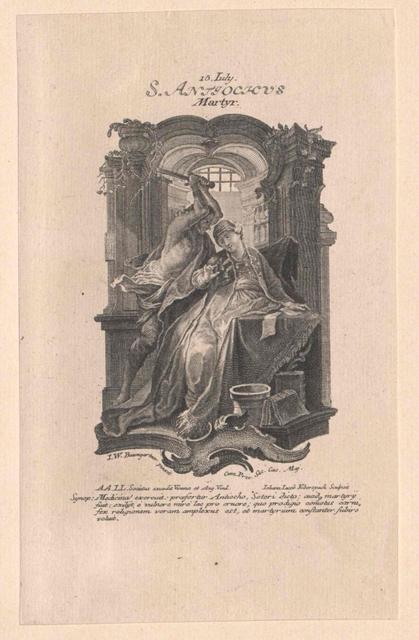 Antiochus von Sebaste, Heiliger