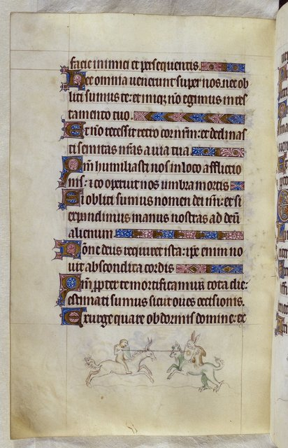 Ape and grotesque from BL Royal 2 B VII, f. 139v