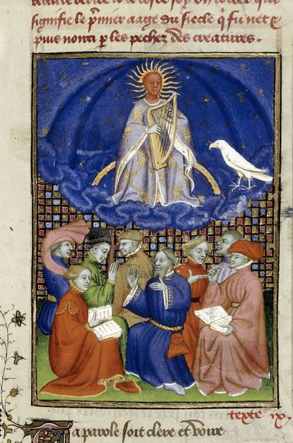 Apollo and followers from BL Harley 4431, f. 101
