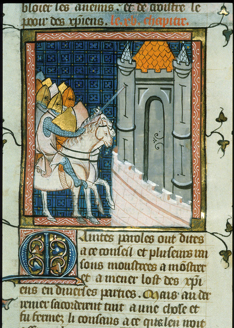 Approach to Damascus from BL Royal 16 G VI, f. 321v