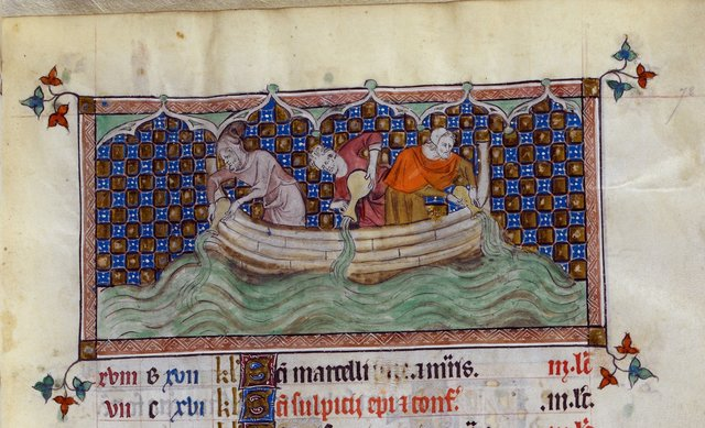 Aquarius from BL Royal 2 B VII, f. 72