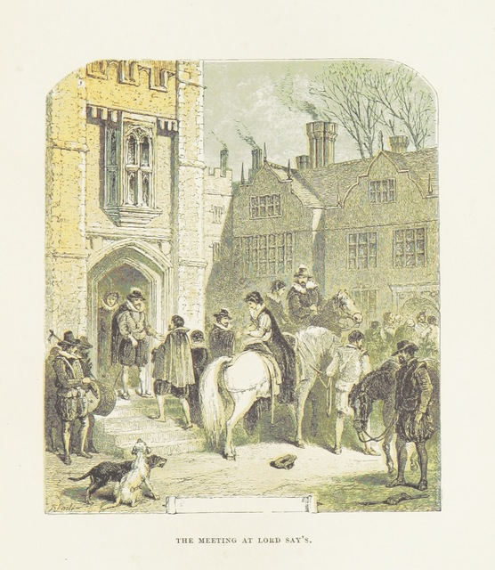 """Architecture from """"The Carewes: a tale of the Civil Wars. With twenty-four illustrations by B. Foster"""""""