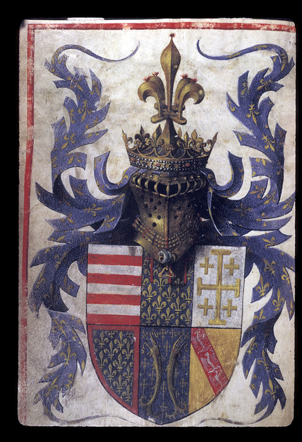Arms from BL Eg 1070, f. 4v