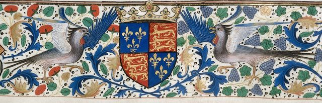 Arms of Edward IV from BL Royal 14 E II, f. 194