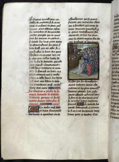 Army and fleet from BL Royal 16 G VIII, f. 304v