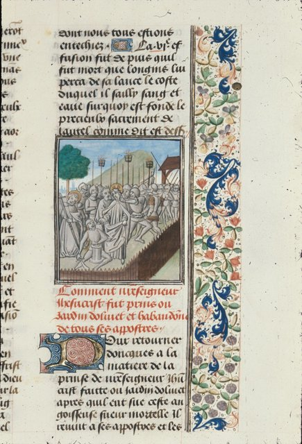 Arrest of Christ from BL Royal 15 D I, f. 342