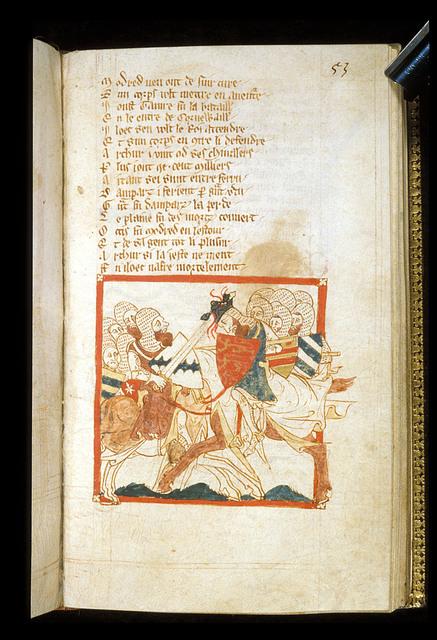 Arthur's death from BL Eg 3028, f. 53