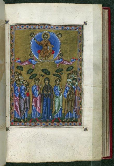Ascension of Christ from BL Eg 1139, f. 11