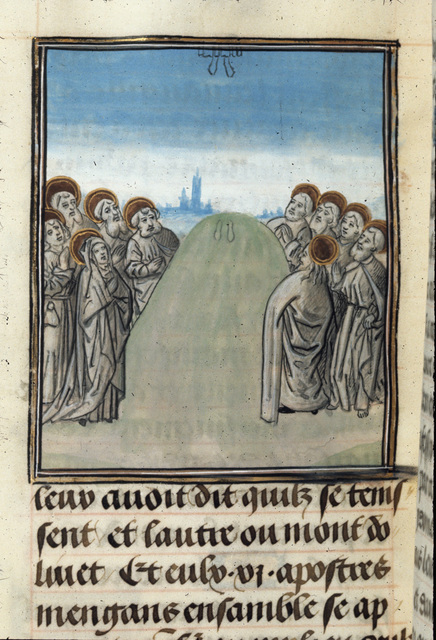 Ascension of Christ from BL Royal 15 D I, f. 370v