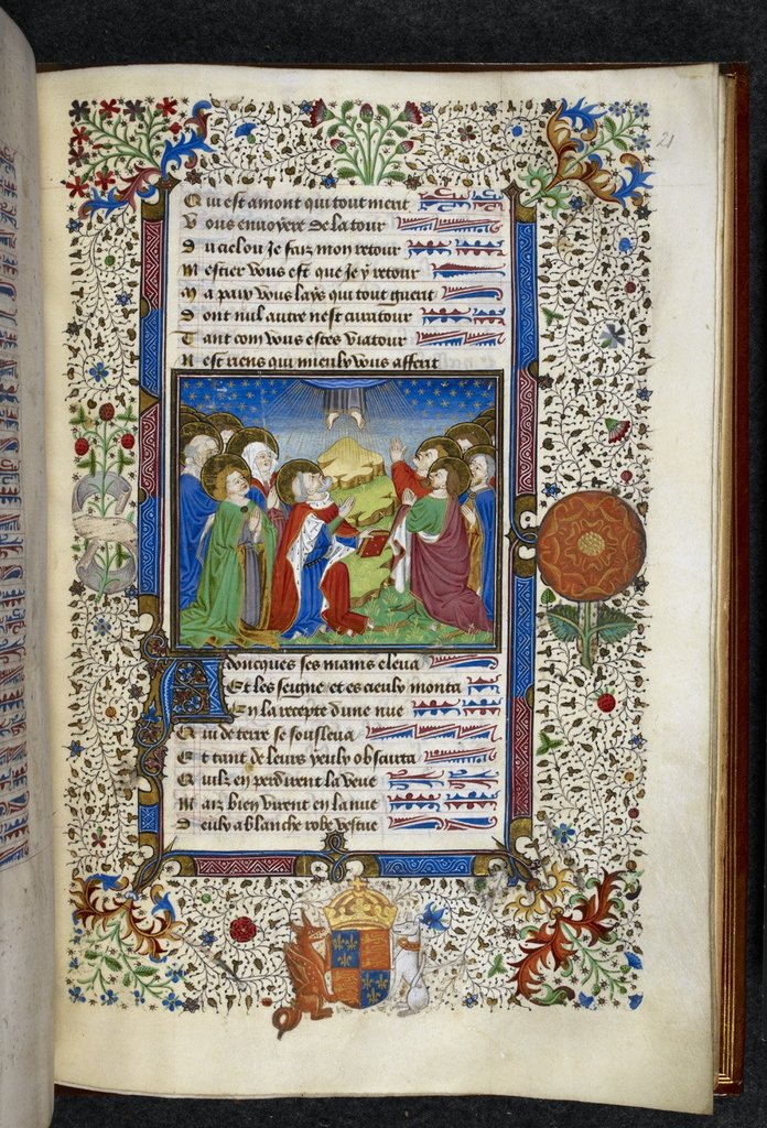 Ascension of Christ from BL Royal 19 A XXII, f. 21