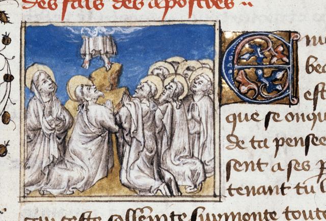 Ascension of Christ from BL Royal 20 B IV, f. 158v