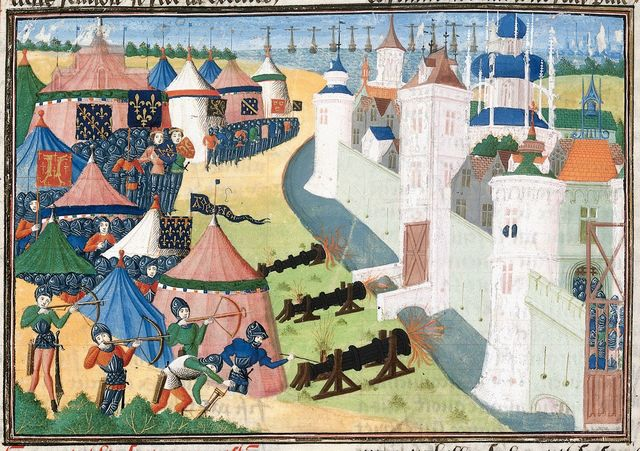 Assault on Ribodane from BL Harley 4379, f. 83v