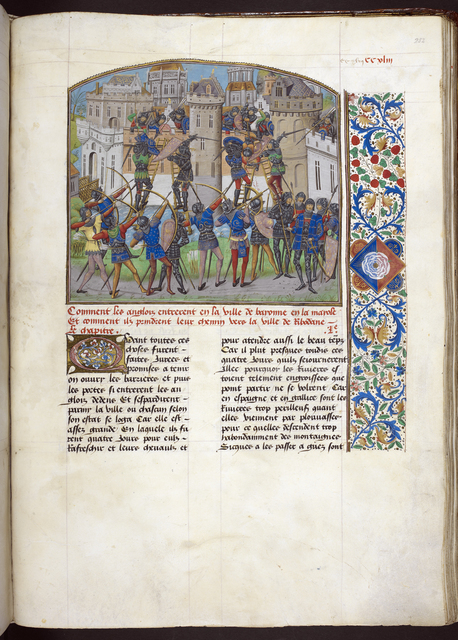 Assault on Ribodane from BL Royal 14 E IV, f. 252