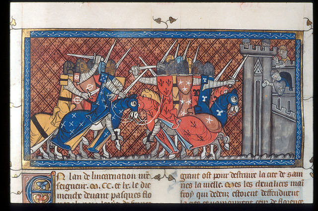 Attack from BL Royal 16 G VI, f. 427