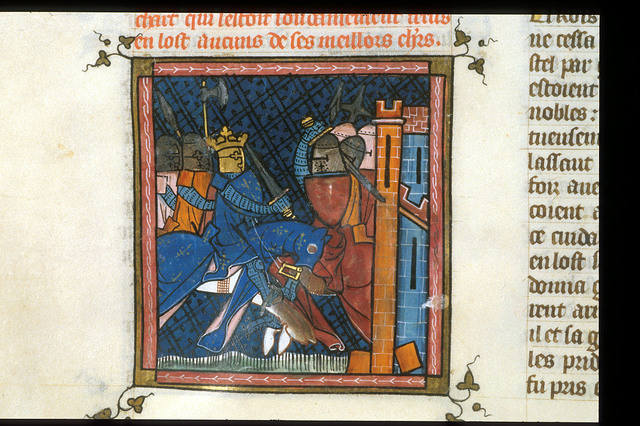 Attack on a town from BL Royal 16 G VI, f. 358v