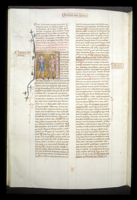 Auditus sive audire (Hearing or to hear) from BL Royal 6 E VI, f. 160v