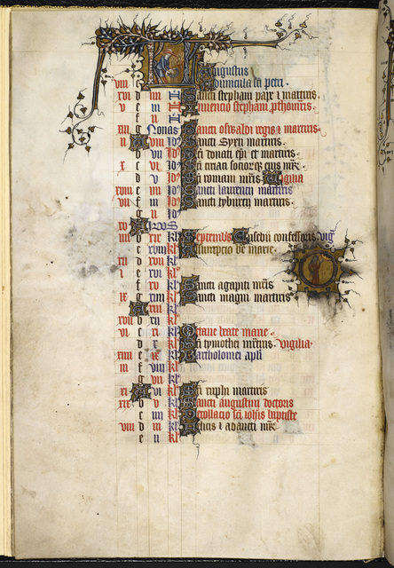 August from BL Eg 3277, f. 4v