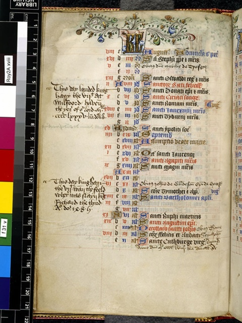 August from BL Royal 2 A XVIII, f. 31v